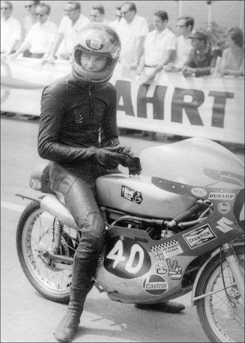 Barry Sheene Sachsenring, Germany 1971 Suzuki 125cc