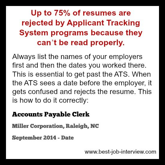 Create a resume that beats the ATS