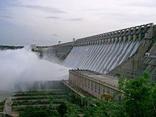 Nagarjuna Sagar Dam (Telugu: నాగార్జునసాగర్ ఆనకట్ట) is the world's largest stone masonry dam at the time of its construction