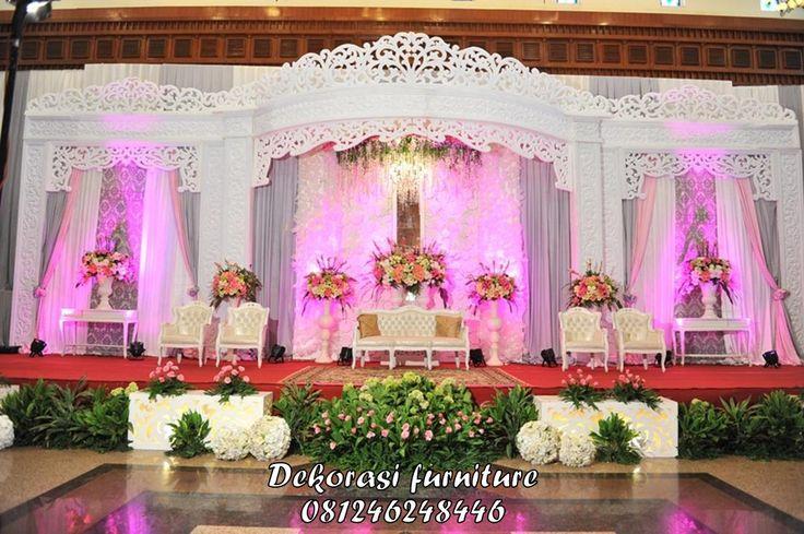 Desain Dekorasi Pengantin Duco Ukir Mewah