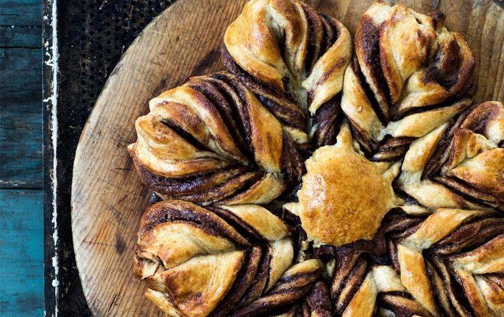Stjernebrød med nutella - dänisches Sternenbrot mit Nutella