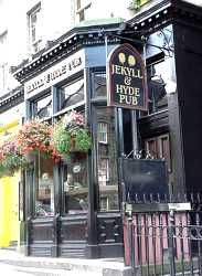 Jekyll and Hyde pub Edinburgh. Love this gothic pub and the toilets behind an imitation bookcase!