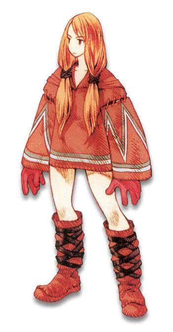 Week 16 - Final Fantasy Tactics - Concept Art Sun - Geomancer Female