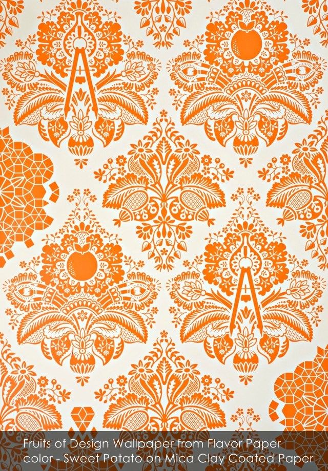 Fruits of Design wallpaper from Flavor Paper in Sweet Potato on Mica Clay Coated Paper