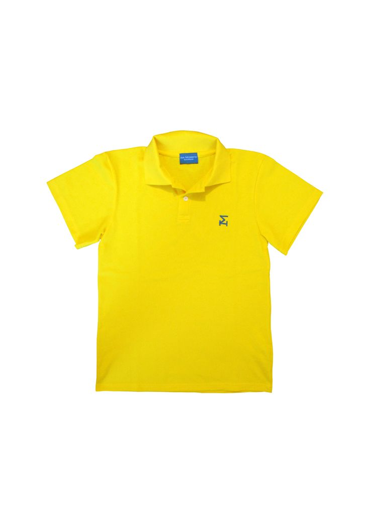 """Polo IVA MOSS'O """"yellow"""".  Cool clothes, brand new IVA MOSS'O"""