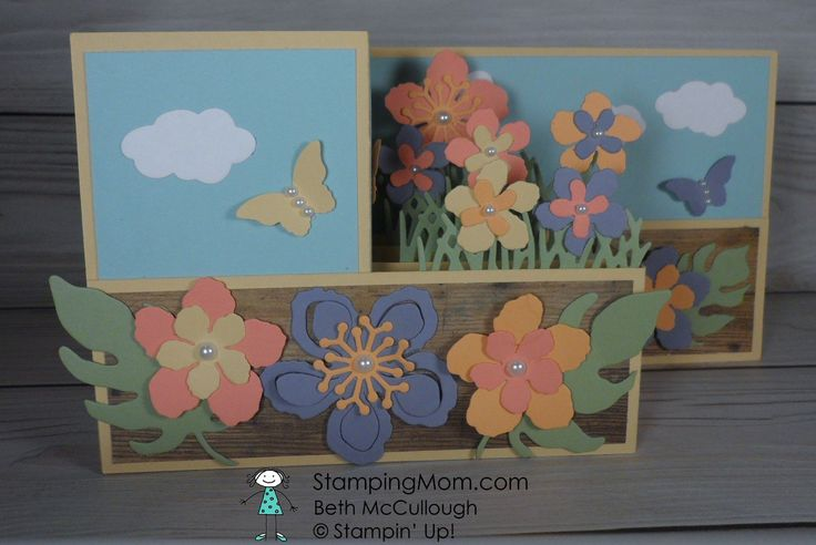 Stampin Up Double Z Pop Up card designed by demo Beth McCullough. Please see more card and gift ideas at www.StampingMom.com #StampingMom #cute&simple4u