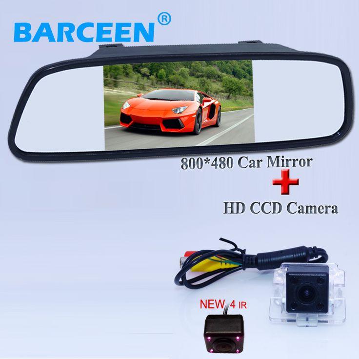 "Auto Parking Assistance  Rear Camera Car Camera for Mitsubishi Outlander 2007 - 2010 + 5"" car  mirror LCD Car rearview monitor"