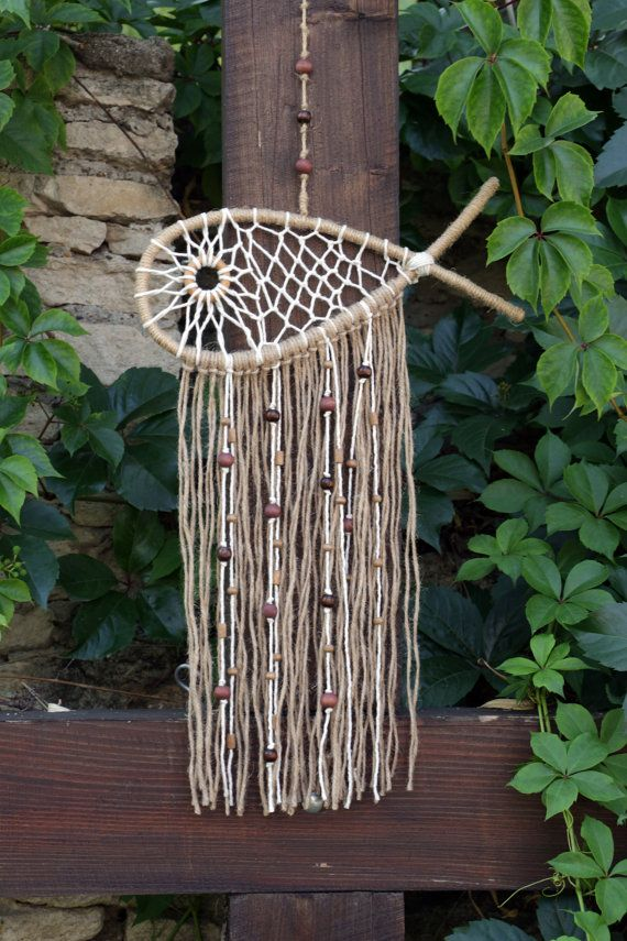 Dreamcatcher-Fish Jute Dream catcher Home Decor por MyHappyDreams