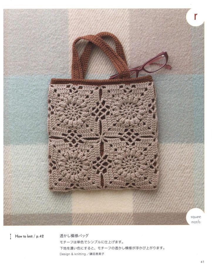 Crochet motif bags asahi original 2014