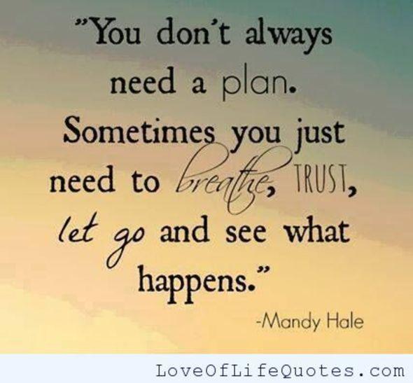 Mandy Hale quote on needing a plan