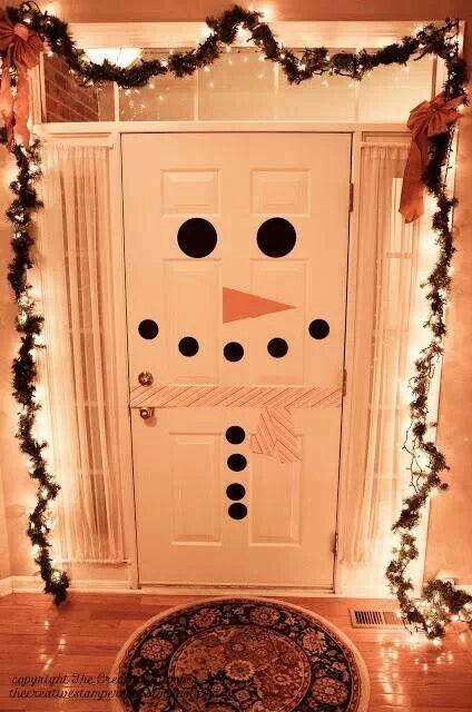 Puerta muñeco de nieve
