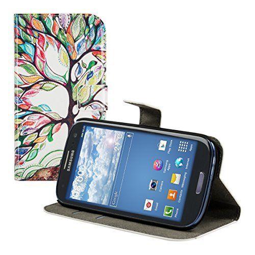 kwmobile® Custodia chic in pelle per Samsung Galaxy S3 i9300 / S3 Neo i9301 con pratica funzione di supporto - Fantasia albero, colore Verde, http://www.amazon.it/dp/B00RPCNAPS/ref=cm_sw_r_pi_awdl_uyPSub0JG8J94