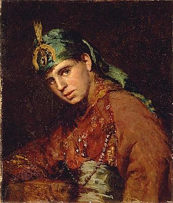 Louis McCubbin (as a boy in fancy dress), by Frederick McCubbin, c.1908, Australian. National Gallery of Victoria, Melbourne.