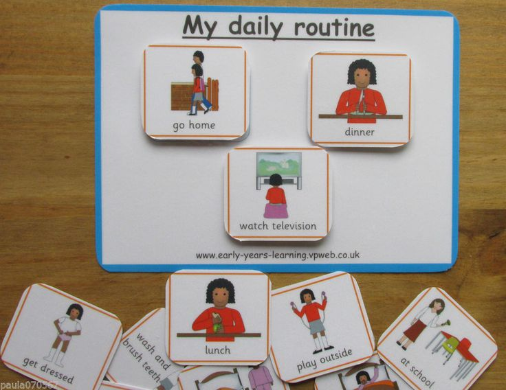 details about my daily routine board pecs cards