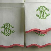 custom designed monogram - LOVE items with our initials or names on them - maybe in blue and grey?
