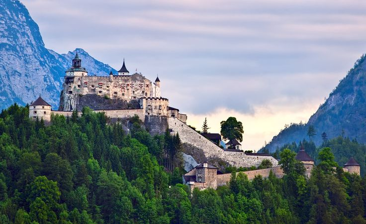 Hohenwerfen castle is a must if you travel from / to Salzburg. #castle #austria #europe #travel #daytrip