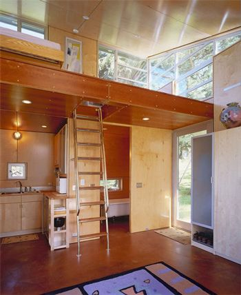 This tiny home is cool too. Wonder if I can find a pic of the whole house or the floorplan.... hmm.....  ;)