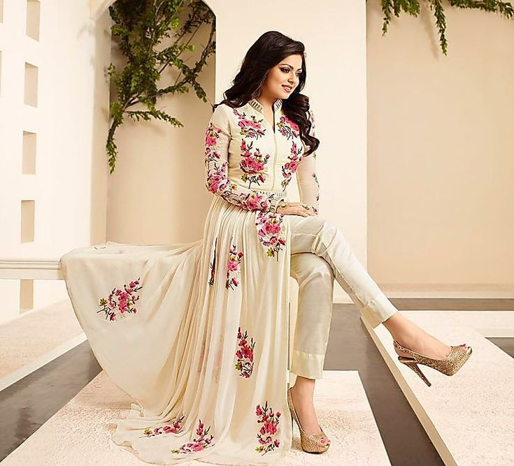 Shop Dharm Fashion Villa Bollywood Party Wear Georgette Anarkali Suit by Dharm Fashion Villa online. Largest collection of Latest Anarkalis online. ✻ 100% Genuine Products ✻ Easy Returns ✻ Timely Delivery