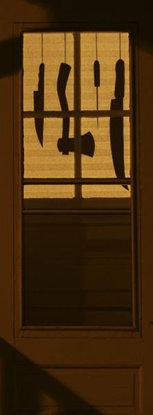 halloween shadow decorations