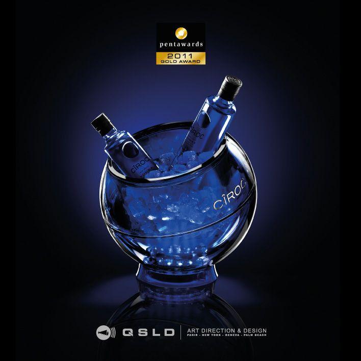 Pentaward 2011 - Gold Award - Ciroc Vodka - Design by QSLD