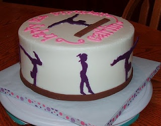 Gymnastics Cake - how cool is this one?