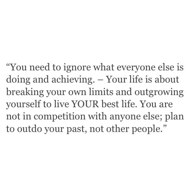 Outdo your past self