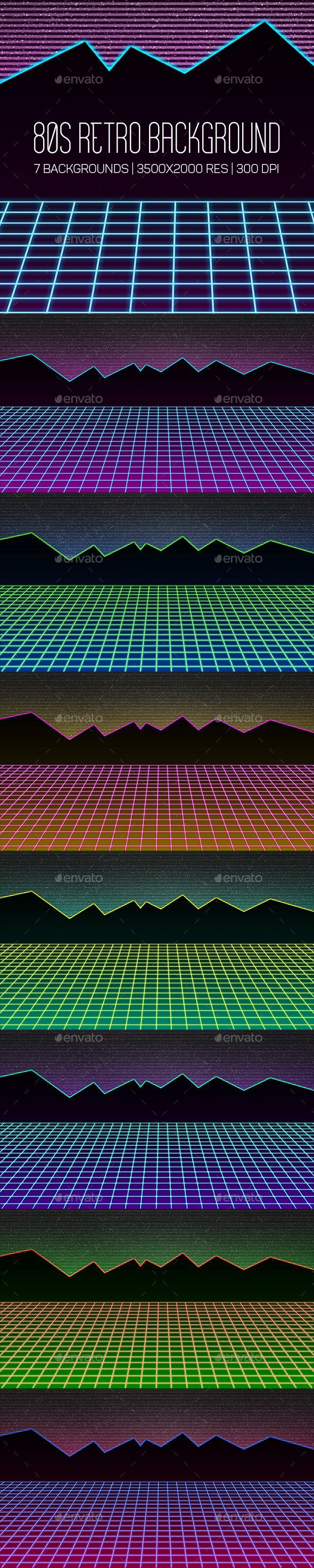 80s Retro Background by Starmotyl Includes 7 high quality JPG files