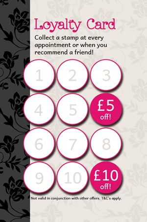 New to Dartford Nail Art, loyalty cards!