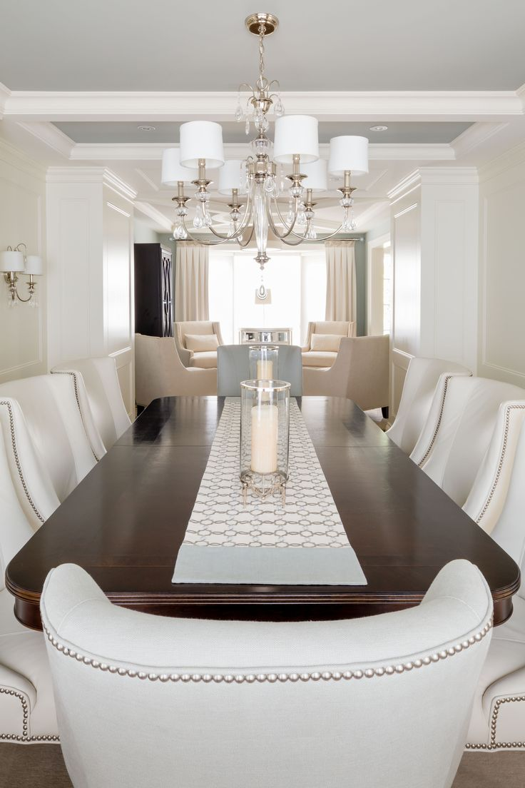"""A transitional style dining room by """"Parkyn Design"""" www.parkyndesign.com"""