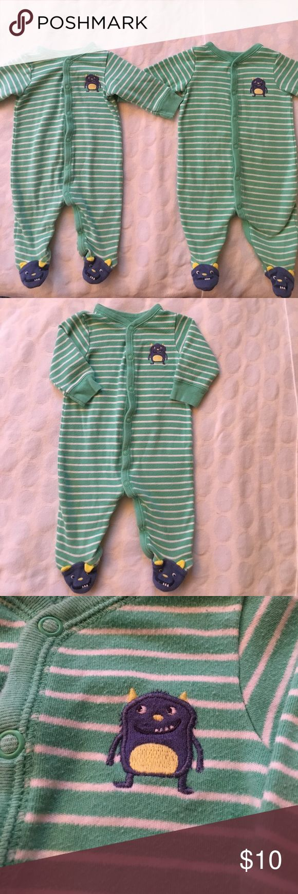 2 set if sleep and play onesie size 3M. 2 onesie little monster sleep and play. Carter's One Pieces Bodysuits