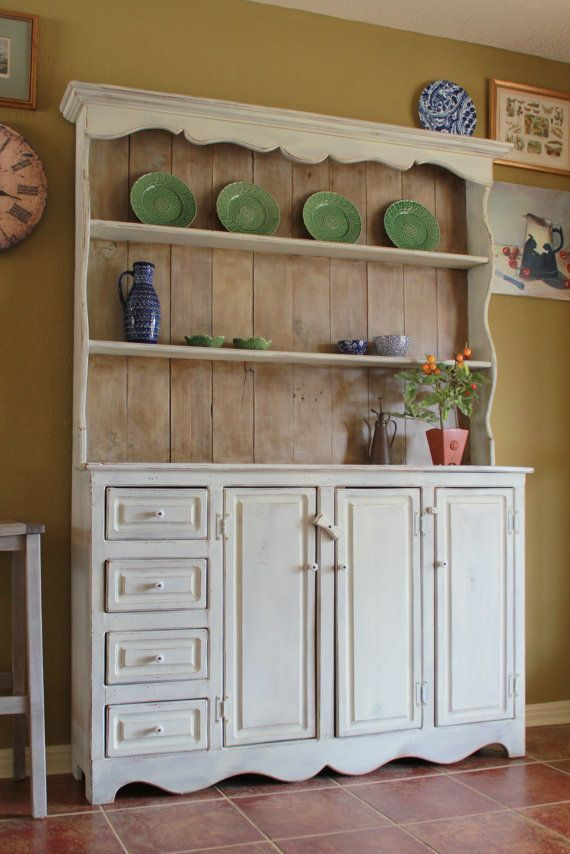 Exceptional Primitive Farmhouse China Hutch By Nod To The Past