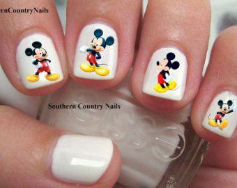 Calcomanías de uñas 46 Mickey y Minnie Mouse