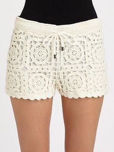 crochet shorts, crochê