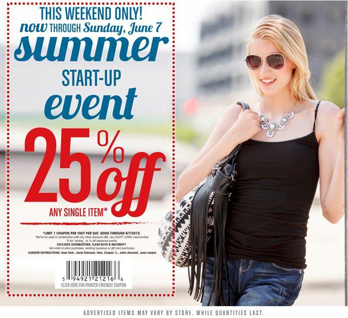 Pinned June 7th: 25% off a single item at #Gordmans #coupon via The #Coupons App