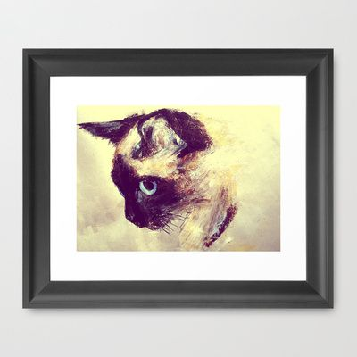 kitty face http://society6.com/product/siamese-cat-ysr_framed-print?curator=fayerock