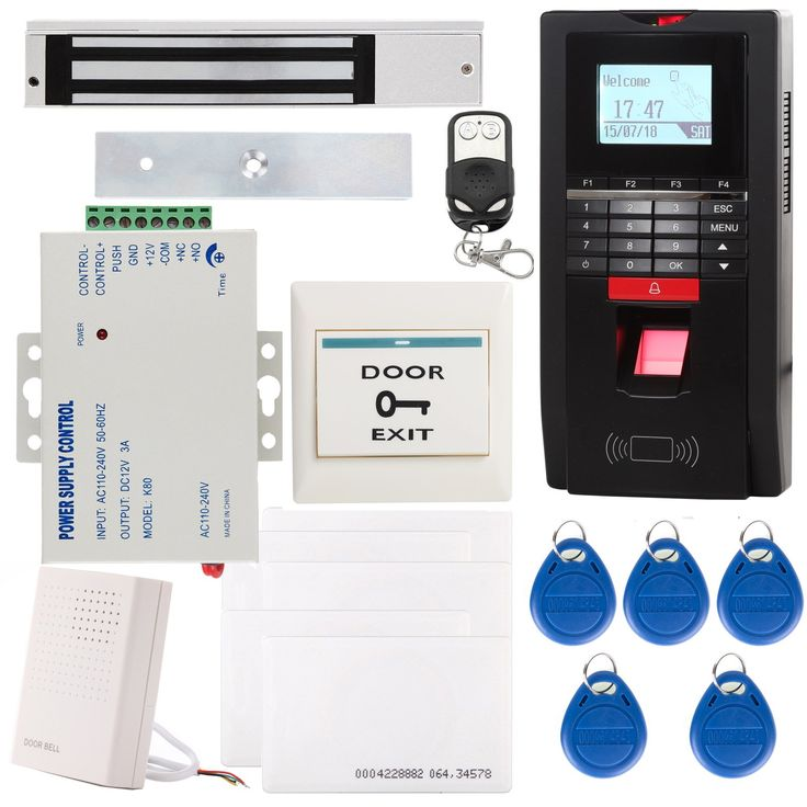 UHPPOTE Full Complete Biometric Fingerprint  EM-ID Access Control System TCP/IP Time Attandance Kit Include 280KG 600Lbs Magnetic Lock
