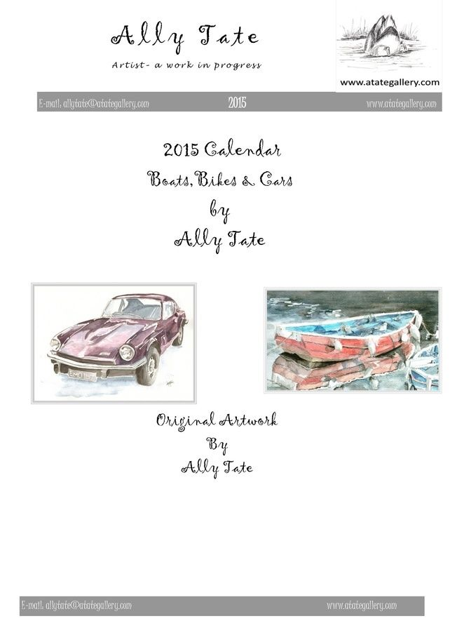 Bike, boat and cars calendar by Ally Tate £4.99