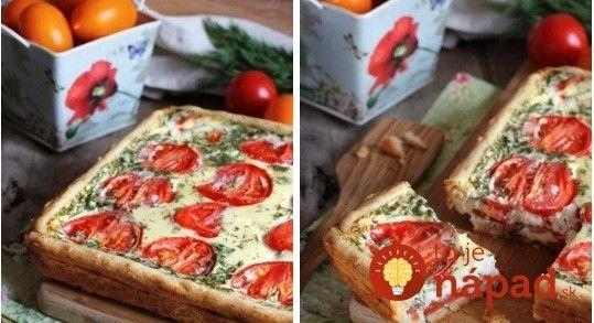Syrovo-paradajkový koláč