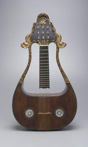 STRANGE GUITAR WEEK Lyre-Guitar from 18th century, so beautiful! #rareandstrangeinstruments