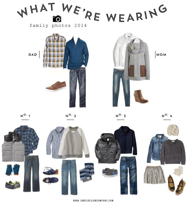 what we're wearing (family photos 2014) / jones design company