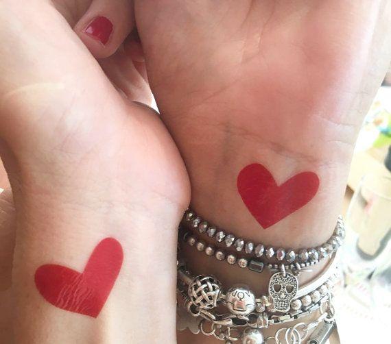 Temporary Tatoos Cuore Tatuaggio temporaneo accessori di Verifly