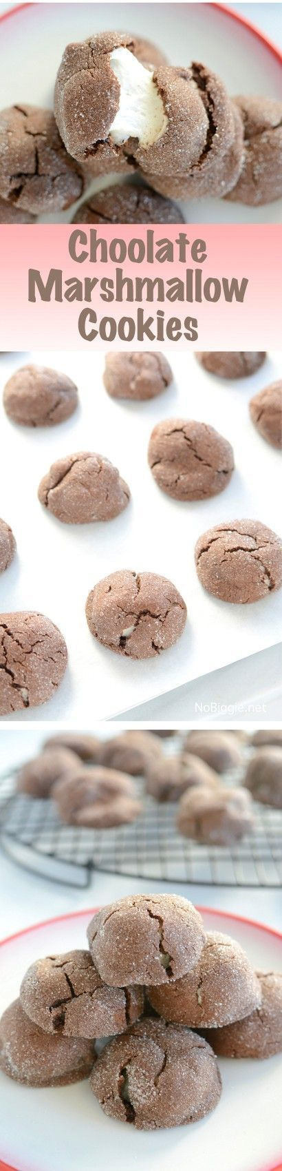 chocolate marshmallow cookies seriously the best cookies! | http://NoBiggie.net