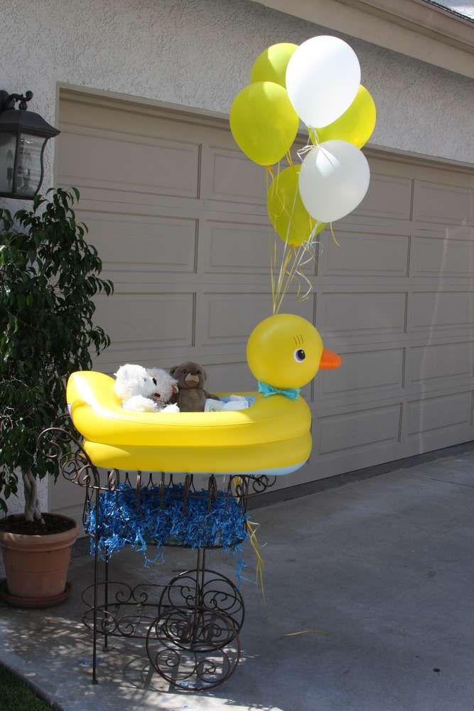 best  rubber duck centerpieces ideas on   rubber, Baby shower invitation