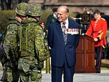 Order of Canada - Wikipedia, the free encyclopedia  Prince Philip, Duke of Edinburgh, wearing at the neck the insignia of a Companion of the Order of Canada. Philip originally declined an honorary appointment to the Order of Canada, feeling the offer implied he was a foreigner to Canada. In April 2013, he accepted appointment as the first extraordinary Companion.