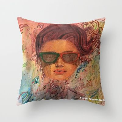 "Throw Pillow / Indoor Cover (16"" x 16"")"
