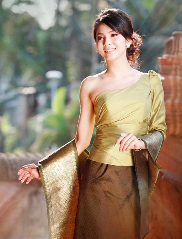 Portrait Beautiful Girl Chandaly Sitphaxay Have Good Academic Achievement Cute Charming