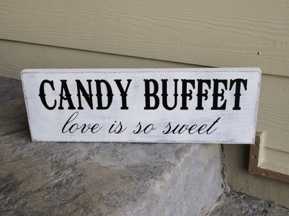 Vintage Candy Buffet Sign Pour Vous For You by OurHobbyToYourHome, $43.95