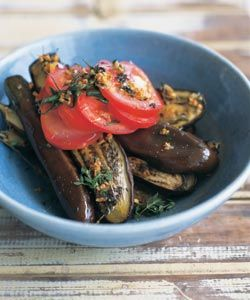 Kylie Kwong's, Japanese eggplants with garlic, olive oil and tomatoes. This is my all time favorite side dish! I make it at least 1-2 times a month.