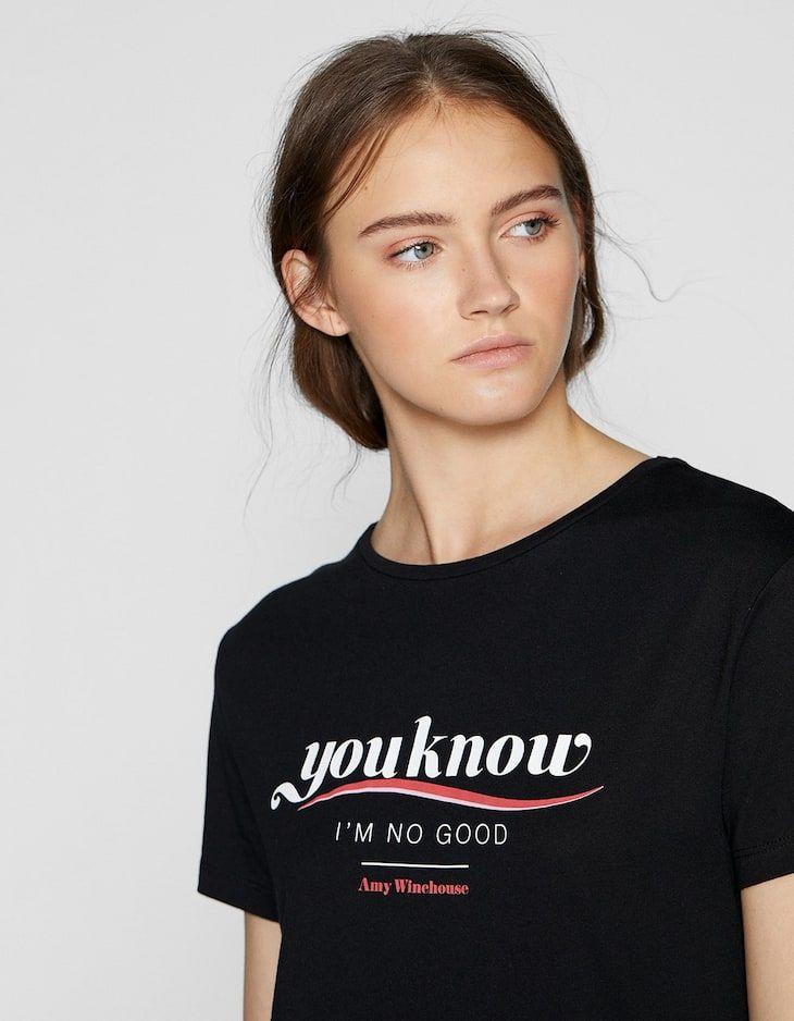 e6e07796646 Camiseta Amy Winehouse - Nuevo de mujer | Stradivarius | REF ROPA en ...