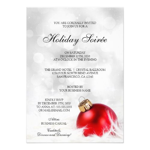 32 best Corporate Holiday Party Invitations images on Pinterest - business invitation templates